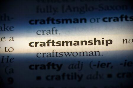 craftsmanship word in a dictionary. craftsmanship concept, definition. 写真素材