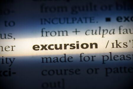 excursion word in a dictionary. excursion concept, definition. 写真素材