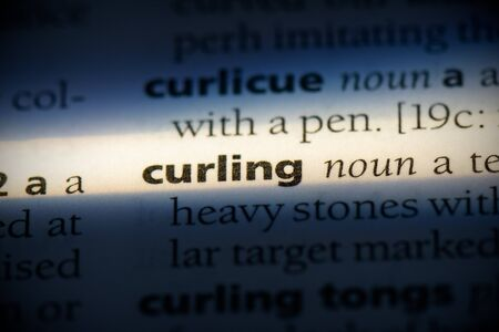 curling word in a dictionary. curling concept, definition. 写真素材