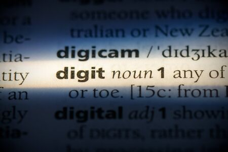 digit word in a dictionary. digit concept, definition.
