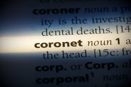 coronet word in a dictionary. coronet concept, definition.