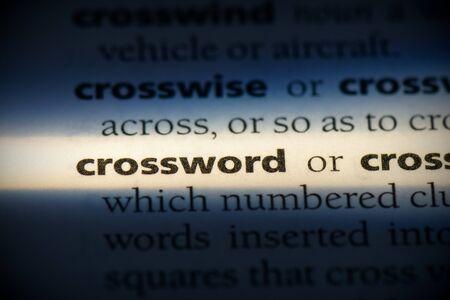 crossword word in a dictionary. crossword concept, definition. 写真素材