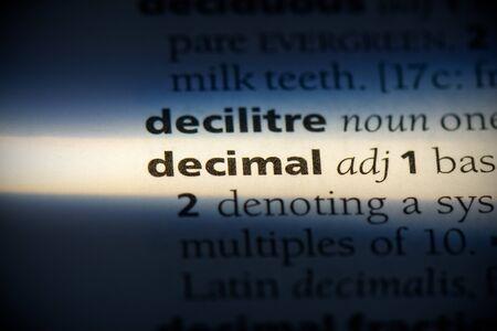decimal word in a dictionary. decimal concept, definition. 写真素材