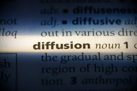 diffusion word in a dictionary. diffusion concept, definition. 写真素材 - 132116287