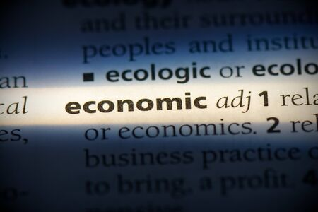 economic word in a dictionary. economic concept, definition. 写真素材