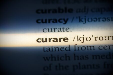 curare word in a dictionary. curare concept, definition.
