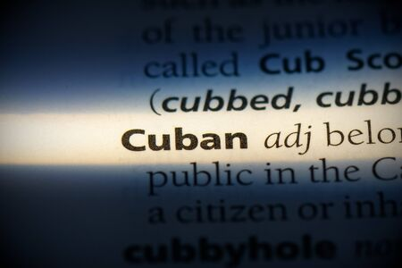 cuban word in a dictionary. cuban concept, definition.
