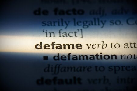 defame word in a dictionary. defame concept, definition. 写真素材