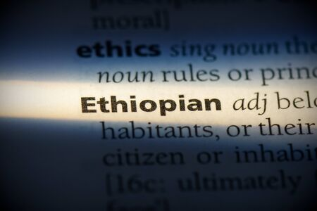ethiopian word in a dictionary. ethiopian concept, definition. 写真素材 - 132116515
