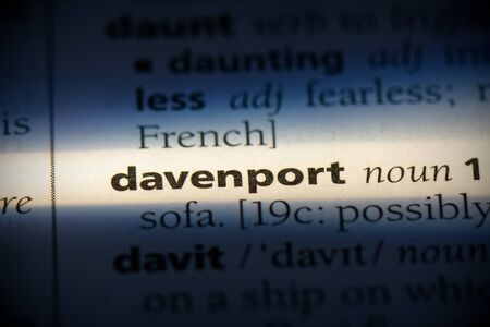 davenport word in a dictionary. davenport concept, definition. 写真素材 - 132116517
