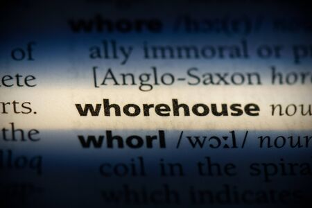 whorehouse word in a dictionary. whorehouse concept, definition. 写真素材
