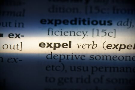 expel word in a dictionary. expel concept, definition. 写真素材 - 132116519