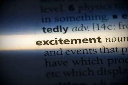 excitement word in a dictionary. excitement concept, definition. 写真素材 - 132116518