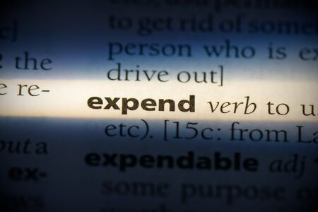 expend word in a dictionary. expend concept, definition. 写真素材 - 132116560