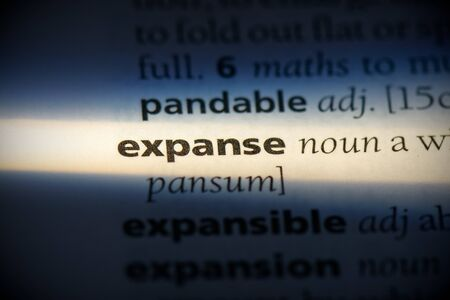 expanse word in a dictionary. expanse concept, definition. 写真素材 - 132116563