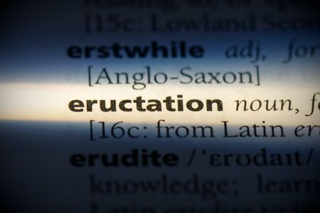 eructation word in a dictionary. eructation concept, definition. 写真素材