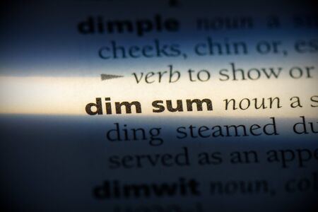 dim sum word in a dictionary. dim sum concept, definition. 写真素材 - 132117108