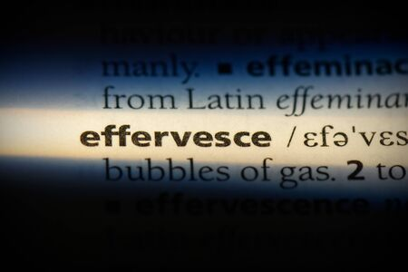 effervesce word in a dictionary. effervesce concept, definition. 写真素材 - 132117104