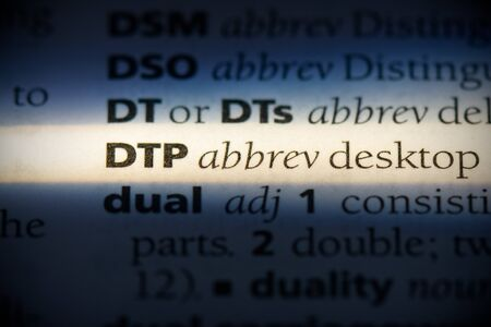 dtp word in a dictionary. dtp concept, definition. 写真素材 - 132117107