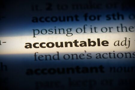 accountable word in a dictionary. accountable concept, definition.