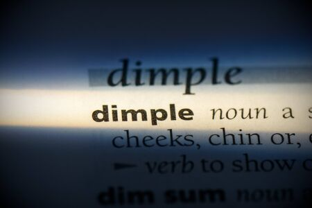 dimple word in a dictionary. dimple concept, definition. 写真素材 - 132117111