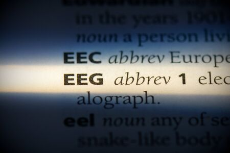 eeg word in a dictionary. eeg concept, definition. 写真素材 - 132117113