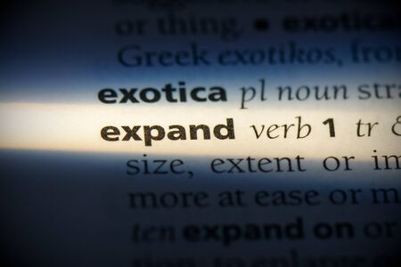 expand word in a dictionary. expand concept, definition. 写真素材 - 132117122