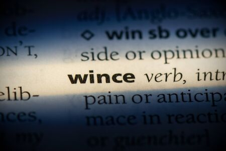 wince word in a dictionary. wince concept, definition.