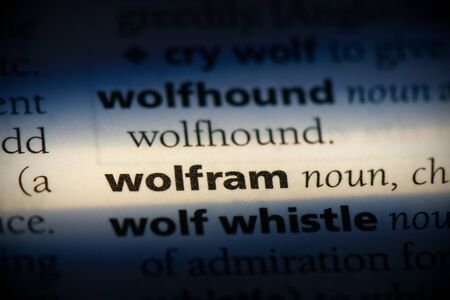 wolfram word in a dictionary. wolfram concept, definition. Stockfoto