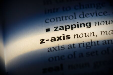 z-axis word in a dictionary. z-axis concept, definition.