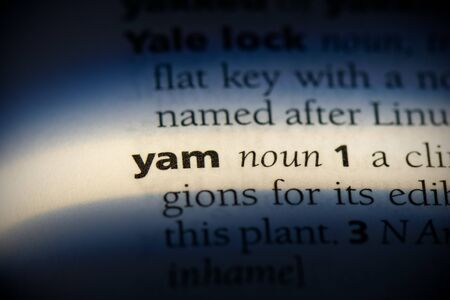 yam word in a dictionary. yam concept, definition.