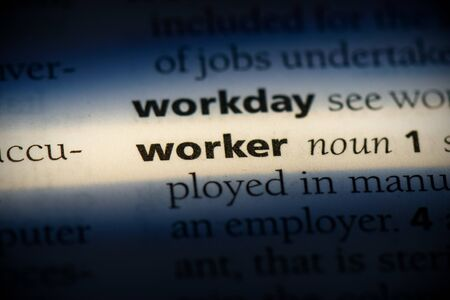 worker word in a dictionary. worker concept, definition.