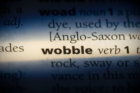 wobble word in a dictionary. wobble concept, definition.