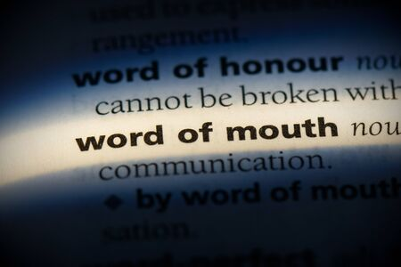 word of mouth word in a dictionary. word of mouth concept, definition. 写真素材 - 132117321