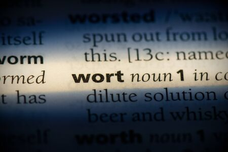 wort word in a dictionary. wort concept, definition.