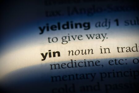 yin word in a dictionary. yin concept, definition.