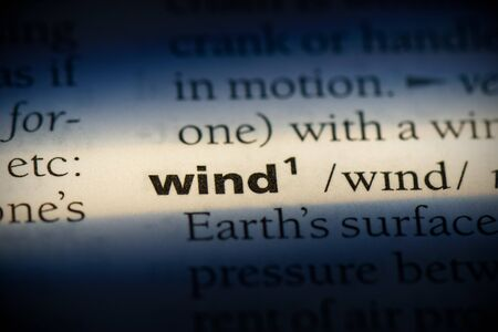 wind word in a dictionary. wind concept, definition.
