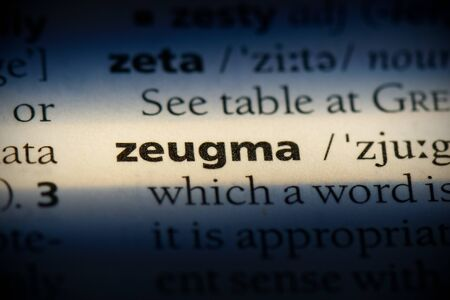 zeugma word in a dictionary. zeugma concept, definition.