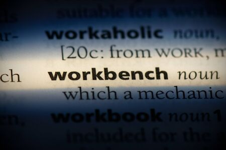 workbench word in a dictionary. workbench concept, definition.