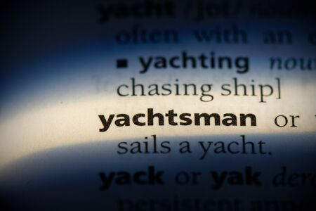yachtsman word in a dictionary. yachtsman concept, definition.