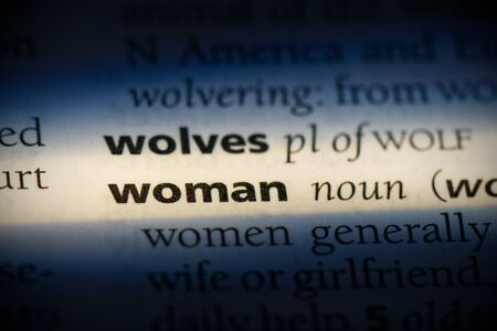 woman word in a dictionary. woman concept, definition. 写真素材 - 132117562