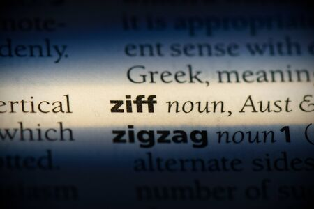 ziff word in a dictionary. ziff concept, definition. Stockfoto