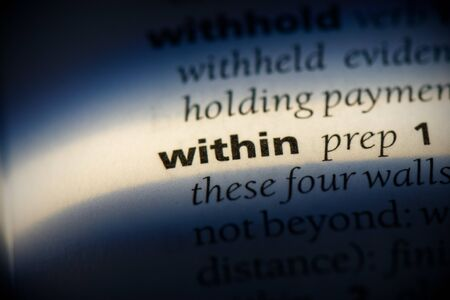 within word in a dictionary. within concept, definition. Stok Fotoğraf
