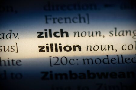 zillion word in a dictionary. zillion concept, definition.