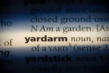 yardarm word in a dictionary. yardarm concept, definition.
