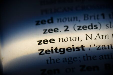 zee word in a dictionary. zee concept, definition. Stockfoto