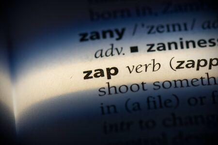 zap word in a dictionary. zap concept, definition.