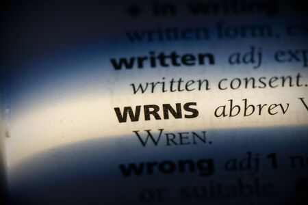 wrns word in a dictionary. wrns concept, definition.