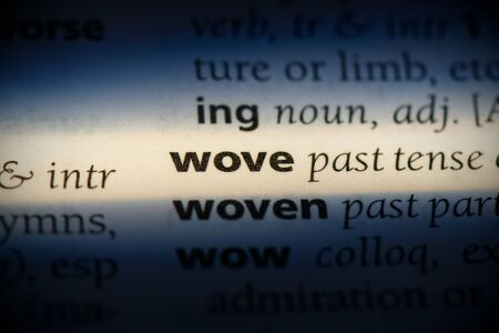 wove word in a dictionary. wove concept, definition. 写真素材 - 132117602