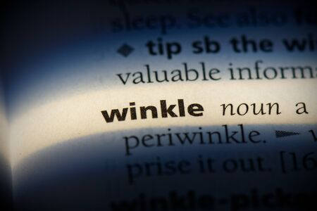 winkle word in a dictionary. winkle concept, definition. Stock Photo